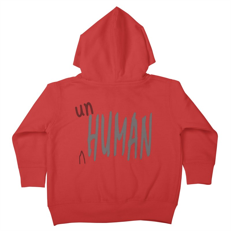 Unhuman Kids Toddler Zip-Up Hoody by Unhuman Design