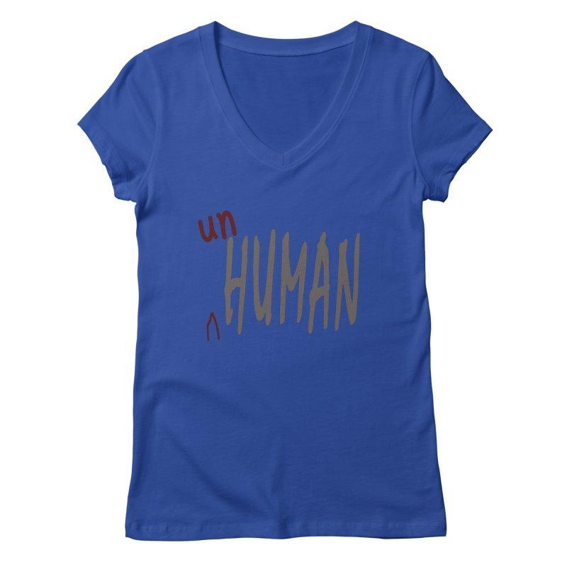 Unhuman Women's Regular V-Neck by Unhuman Design