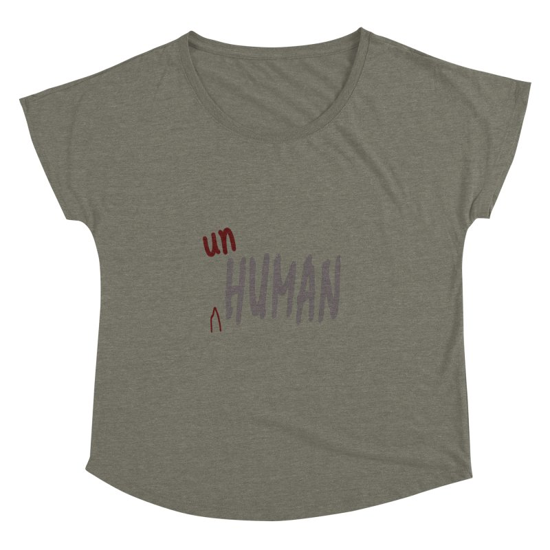 Unhuman Women's Dolman Scoop Neck by Unhuman Design