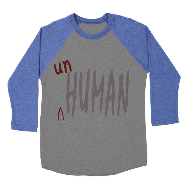 Unhuman Men's Baseball Triblend T-Shirt by Unhuman Design