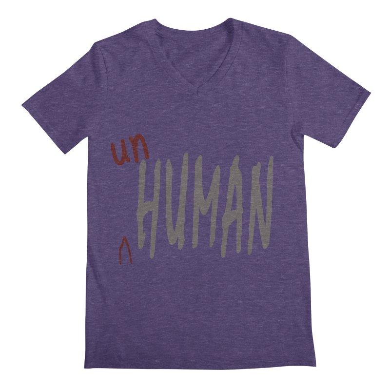 Unhuman Men's V-Neck by Unhuman Design