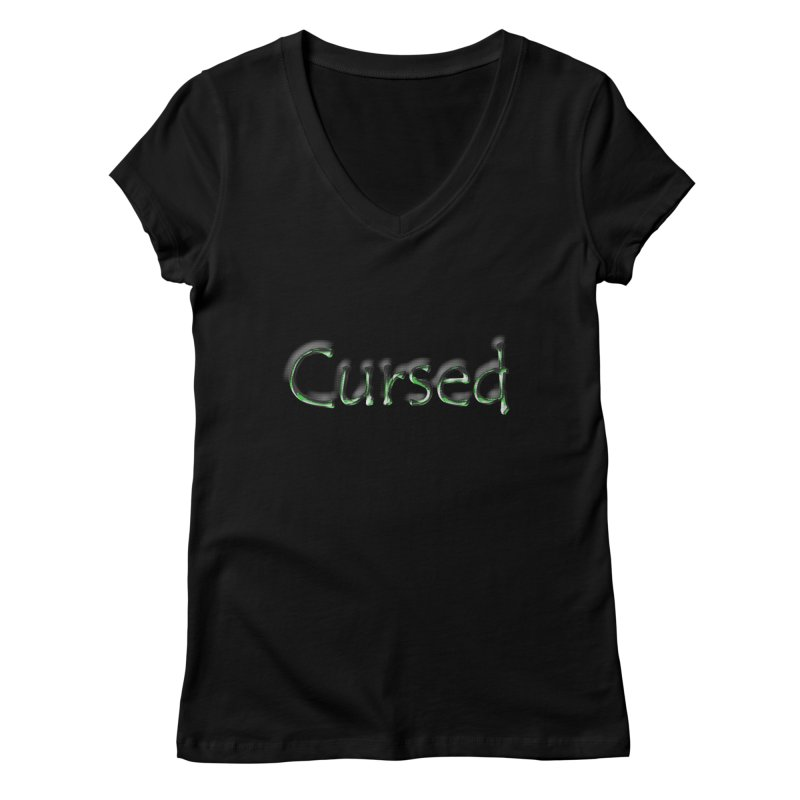 Cursed Women's V-Neck by Unhuman Design