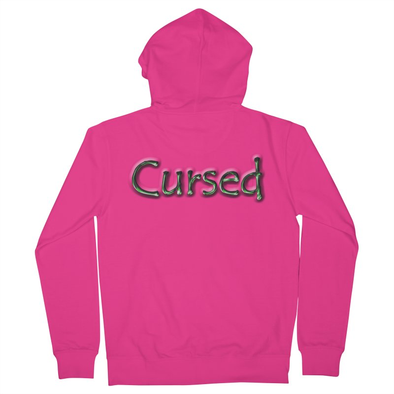 Cursed Men's French Terry Zip-Up Hoody by Unhuman Design