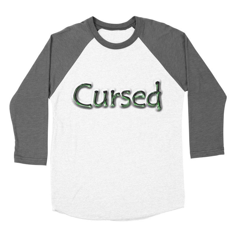 Cursed Men's Baseball Triblend T-Shirt by Unhuman Design