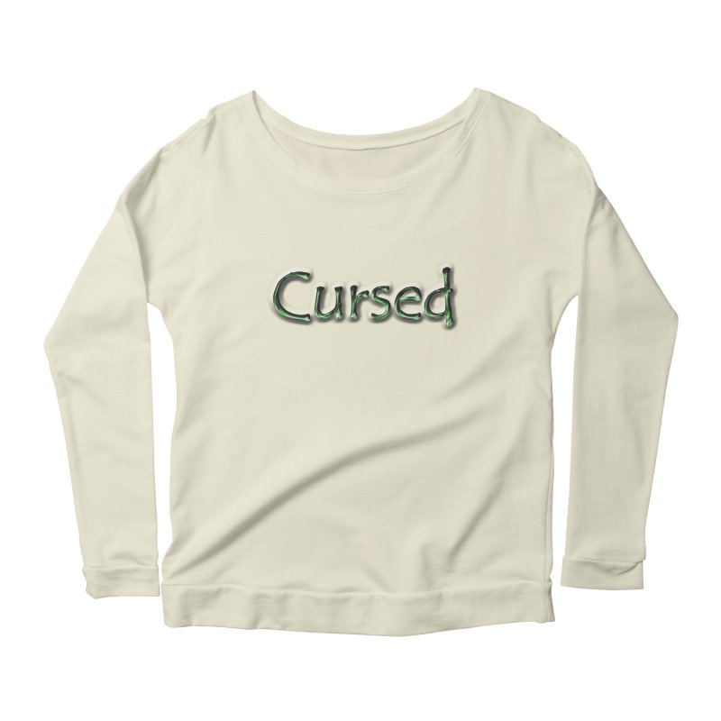 Cursed Women's Longsleeve Scoopneck  by Unhuman Design