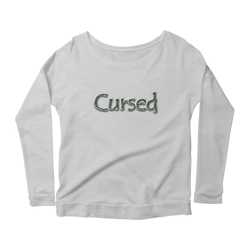 Cursed Women's Scoop Neck Longsleeve T-Shirt by Unhuman Design