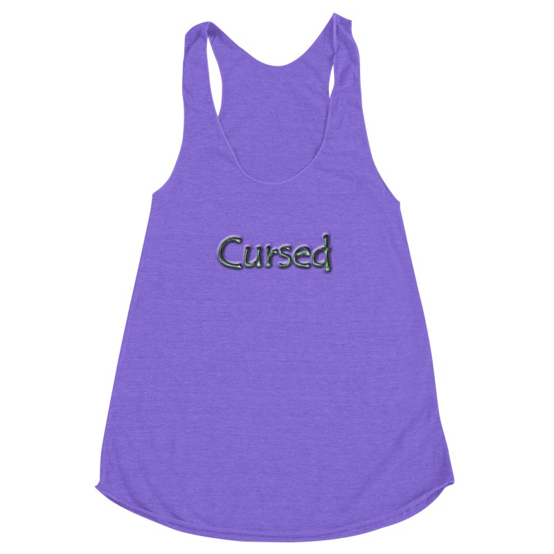 Cursed Women's Racerback Triblend Tank by Unhuman Design