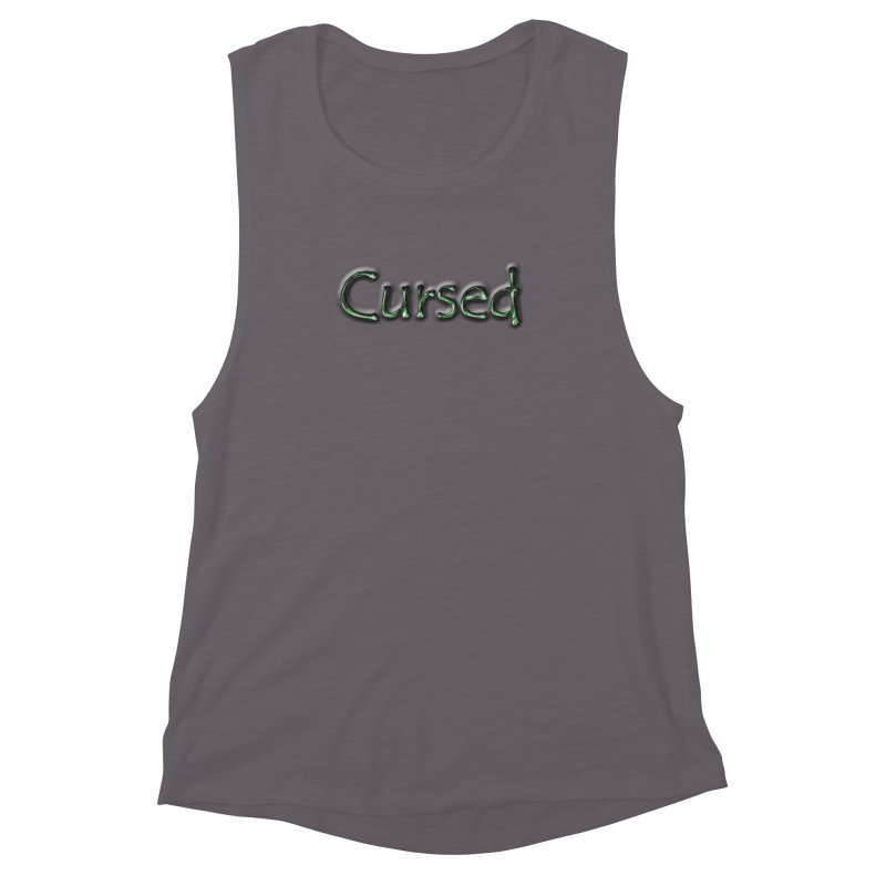 Cursed Women's Muscle Tank by Unhuman Design