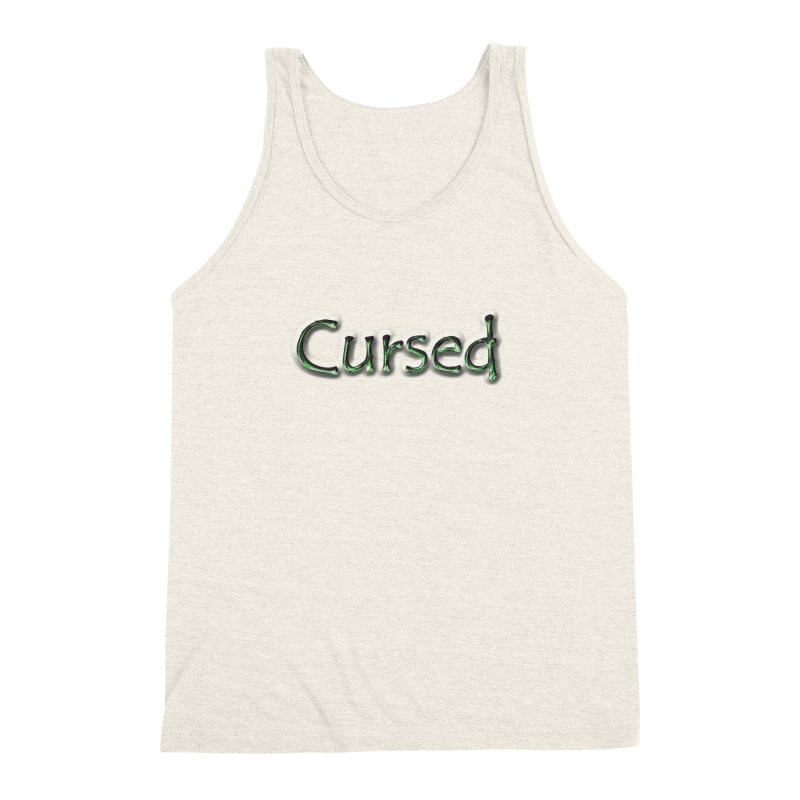 Cursed Men's Triblend Tank by Unhuman Design