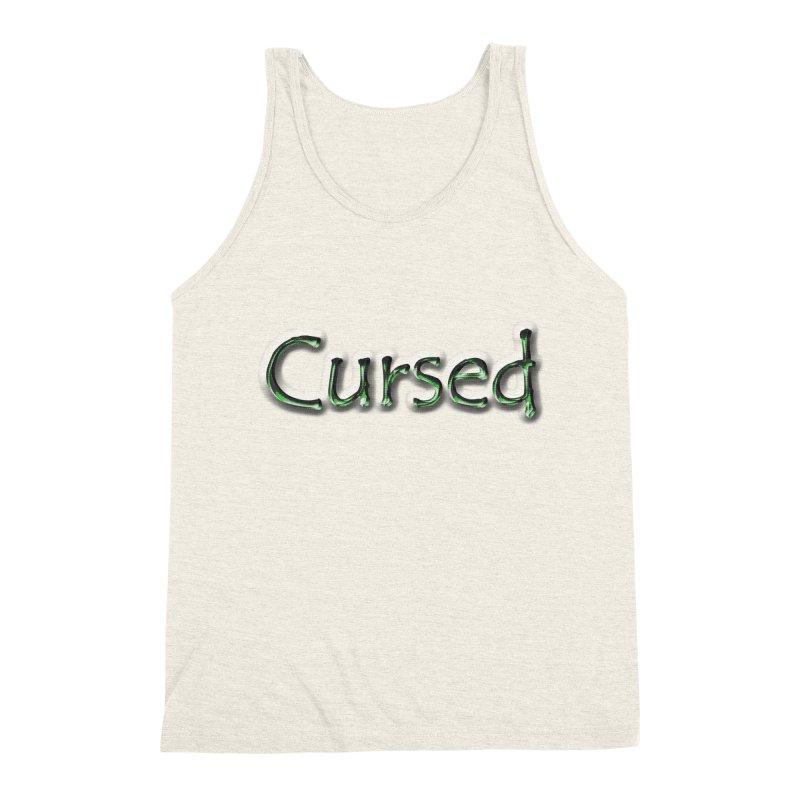 Cursed Men's Triblend Tank by Unhuman Design