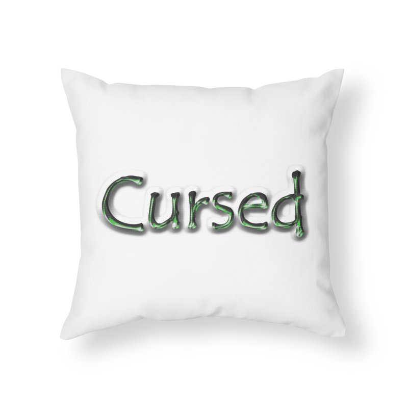 Cursed Home Throw Pillow by Unhuman Design