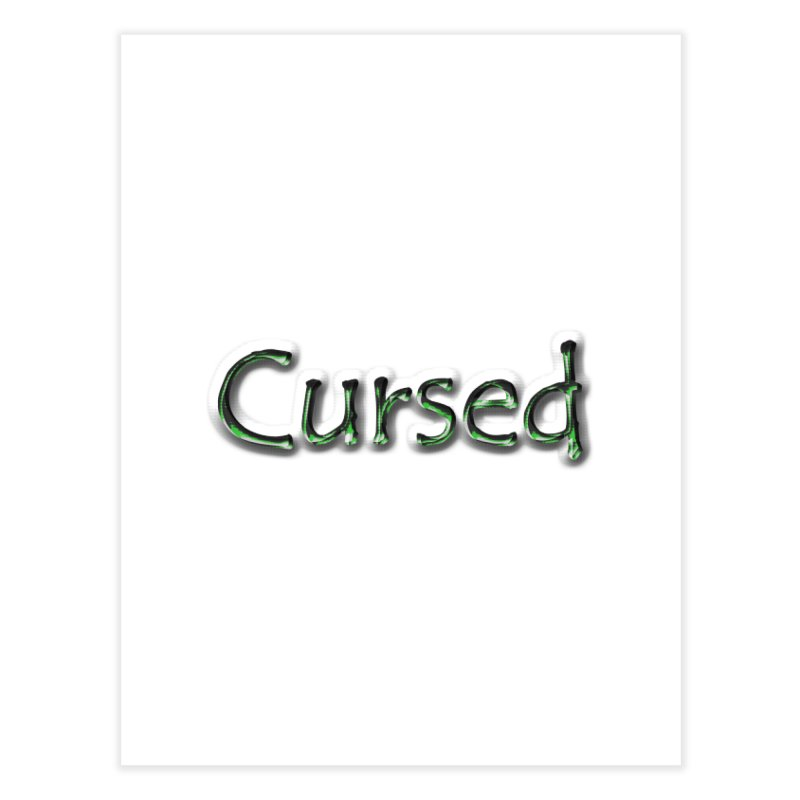 Cursed Home Fine Art Print by Unhuman Design