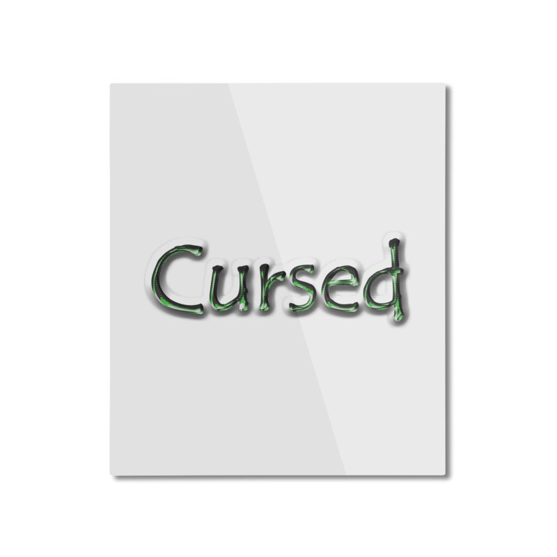 Cursed Home Mounted Aluminum Print by Unhuman Design