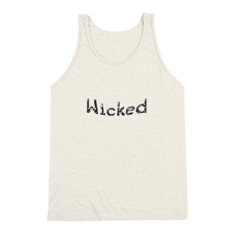Wicked Men's Triblend Tank by Unhuman Design