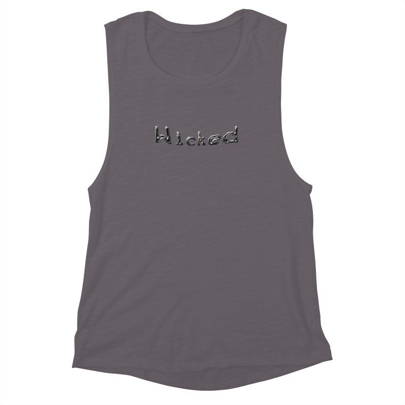 Wicked Women's Muscle Tank by Unhuman Design