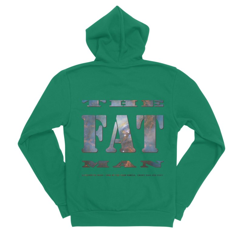 The Fat Man Men's Sponge Fleece Zip-Up Hoody by Unhuman Design