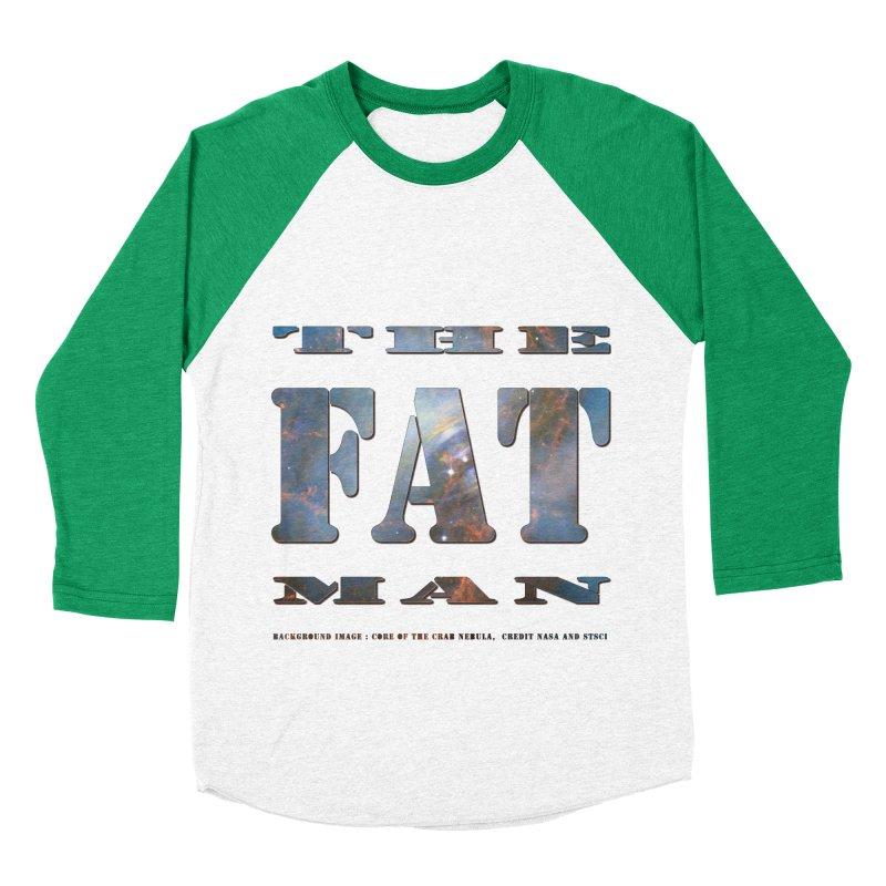 The Fat Man Men's Baseball Triblend Longsleeve T-Shirt by Unhuman Design