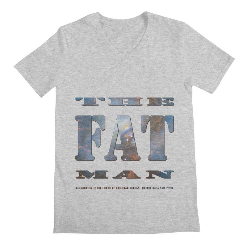 The Fat Man Men's Regular V-Neck by Unhuman Design