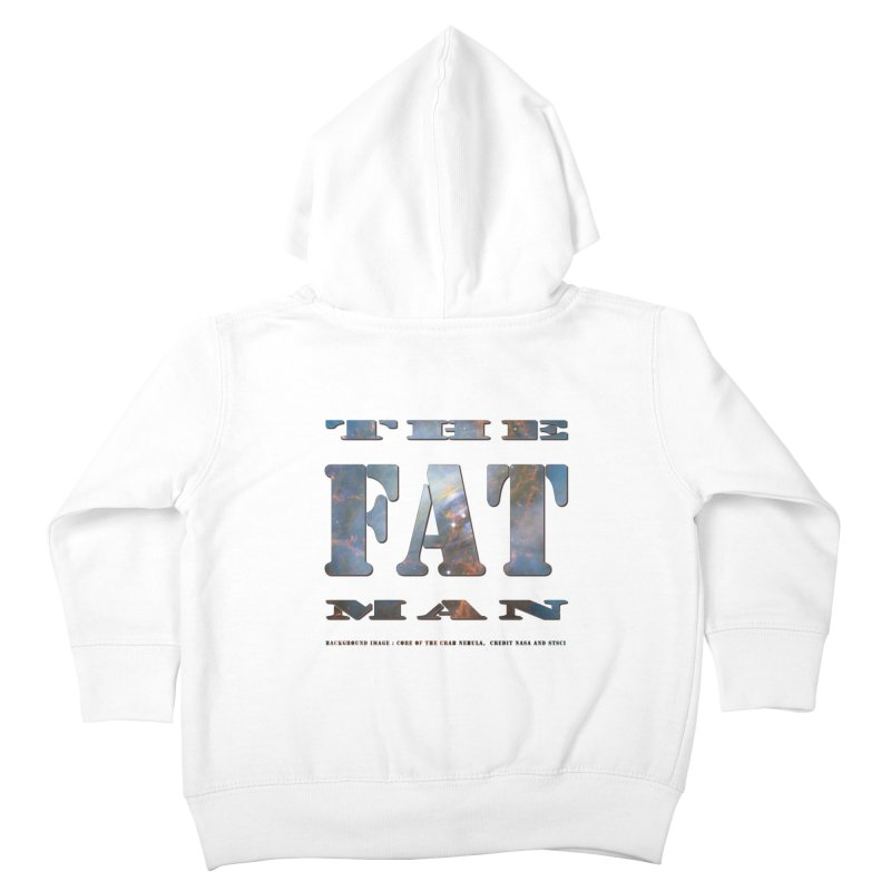 The Fat Man Kids Toddler Zip-Up Hoody by Unhuman Design
