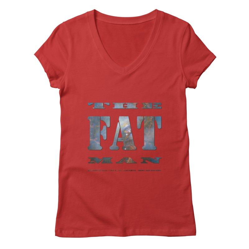 The Fat Man Women's Regular V-Neck by Unhuman Design