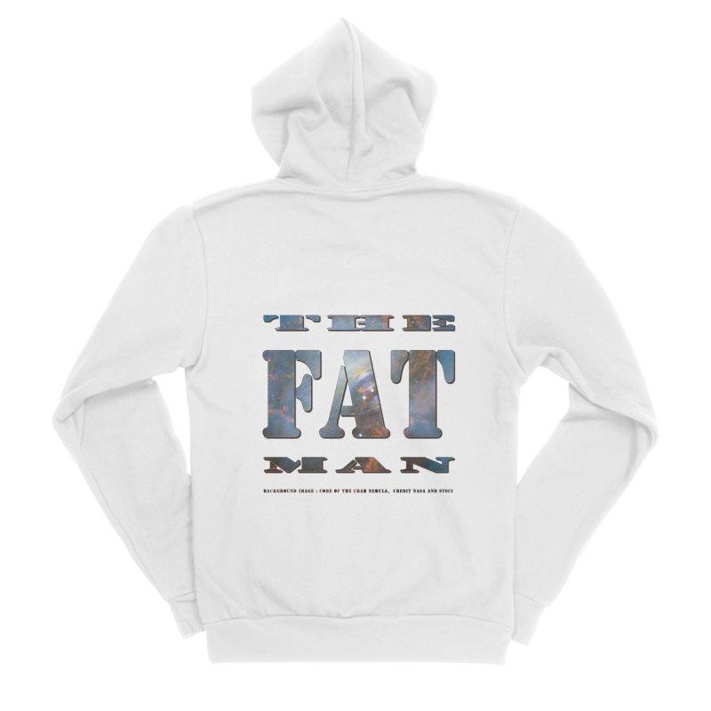 The Fat Man Men's Sponge Fleece Zip-Up Hoody by Unhuman Design