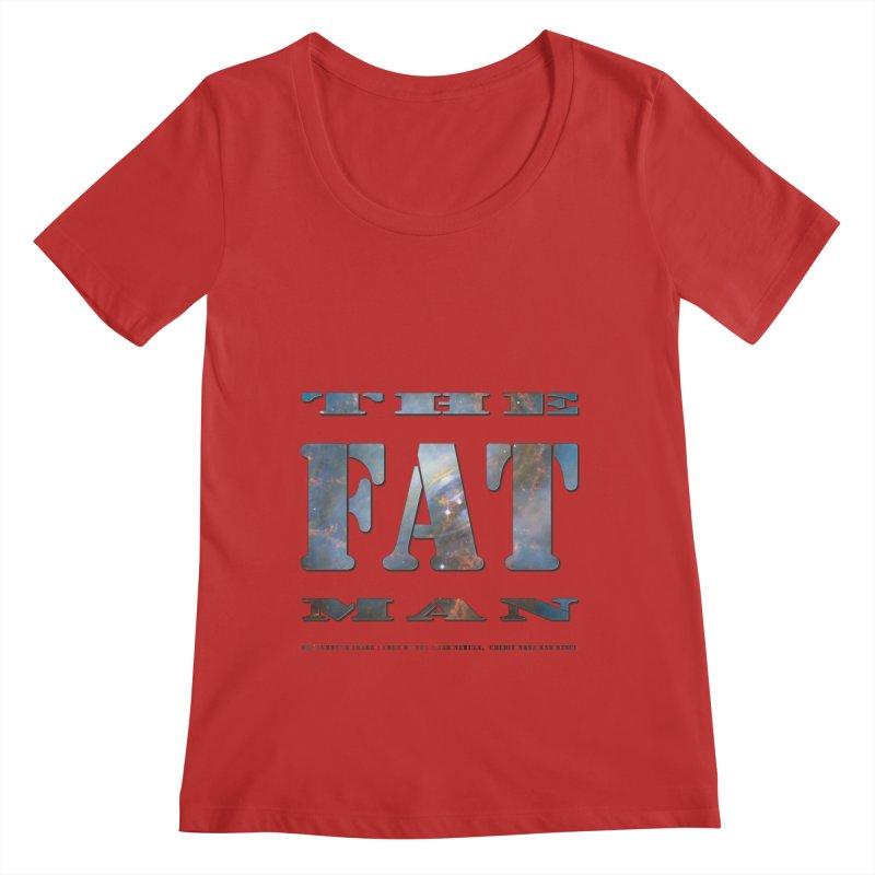 The Fat Man Women's Regular Scoop Neck by Unhuman Design