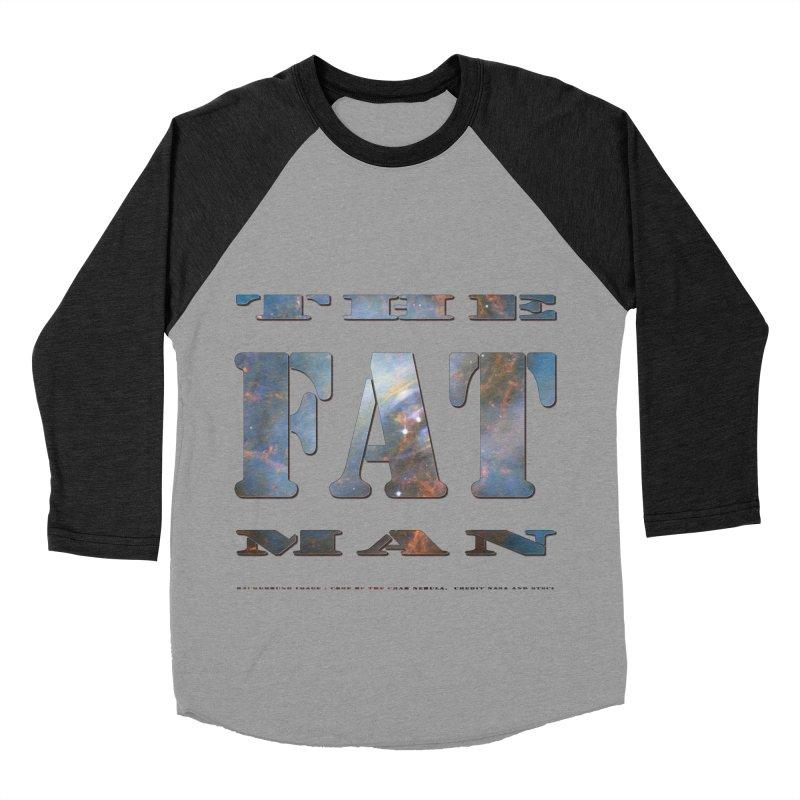 The Fat Man Women's Baseball Triblend T-Shirt by Unhuman Design