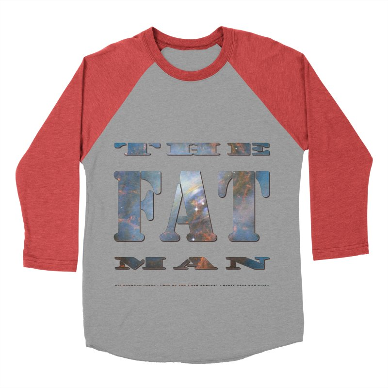 The Fat Man Men's Baseball Triblend T-Shirt by Unhuman Design