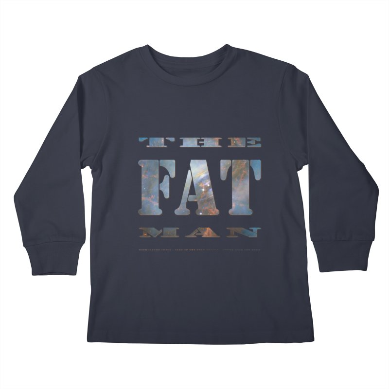 The Fat Man Kids Longsleeve T-Shirt by Unhuman Design