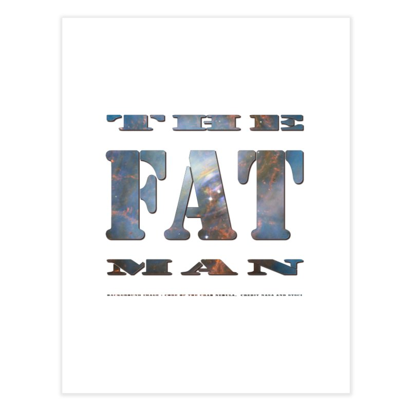 The Fat Man Home Fine Art Print by Unhuman Design