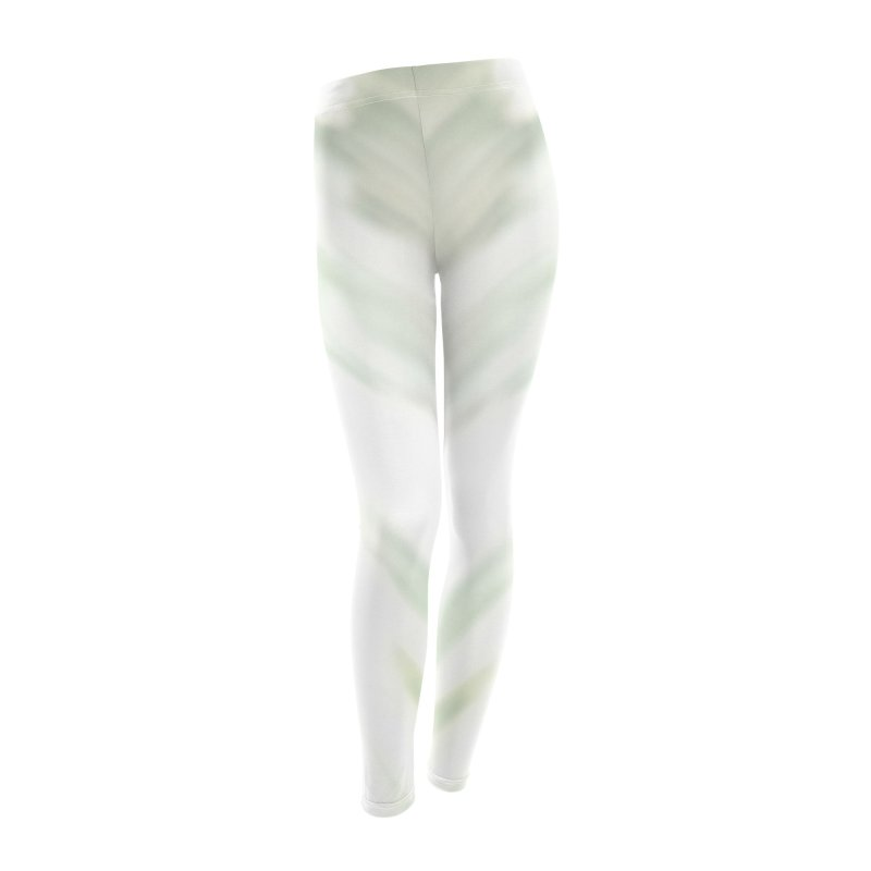 Barely Green Brush Women's Leggings Bottoms by Unhuman Design
