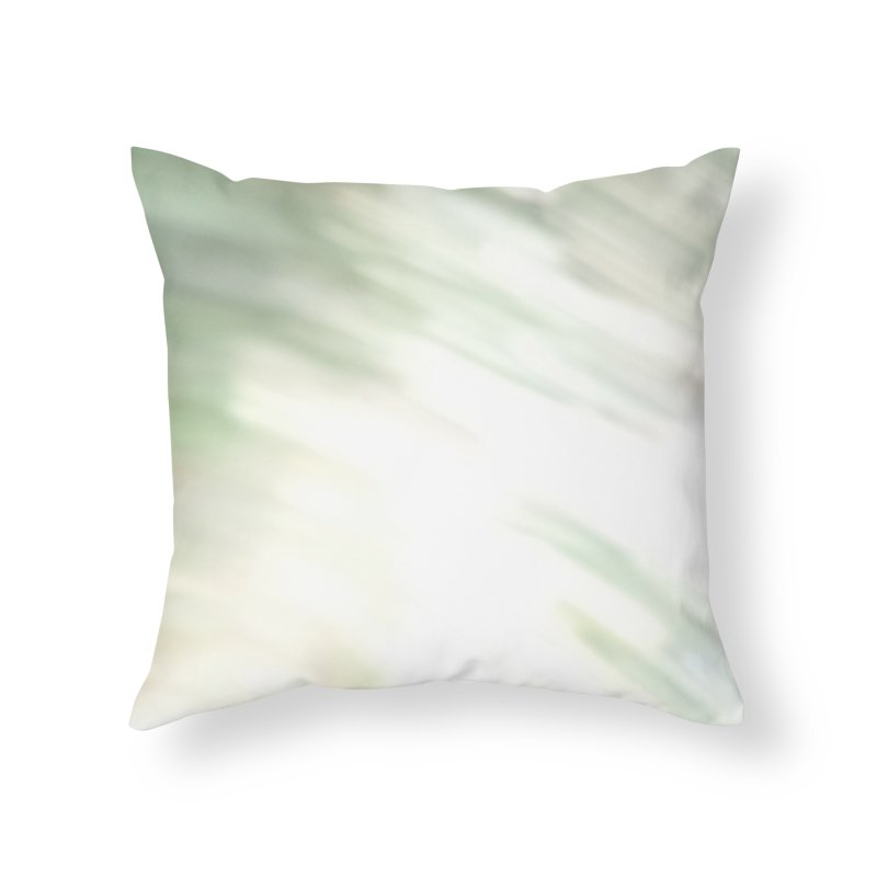 Barely Green Brush Home Throw Pillow by Unhuman Design