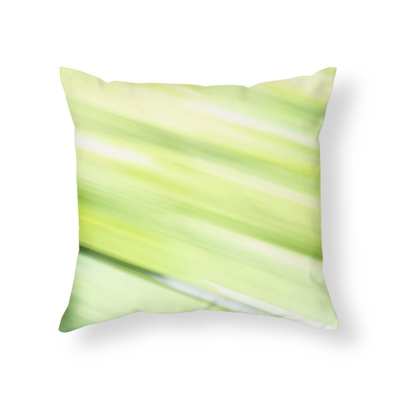 Bright Green Smudge Home Throw Pillow by Unhuman Design