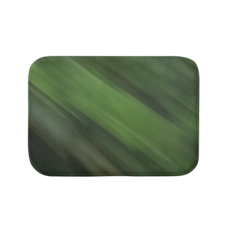 Dark Green Smudge Home Bath Mat by Unhuman Design