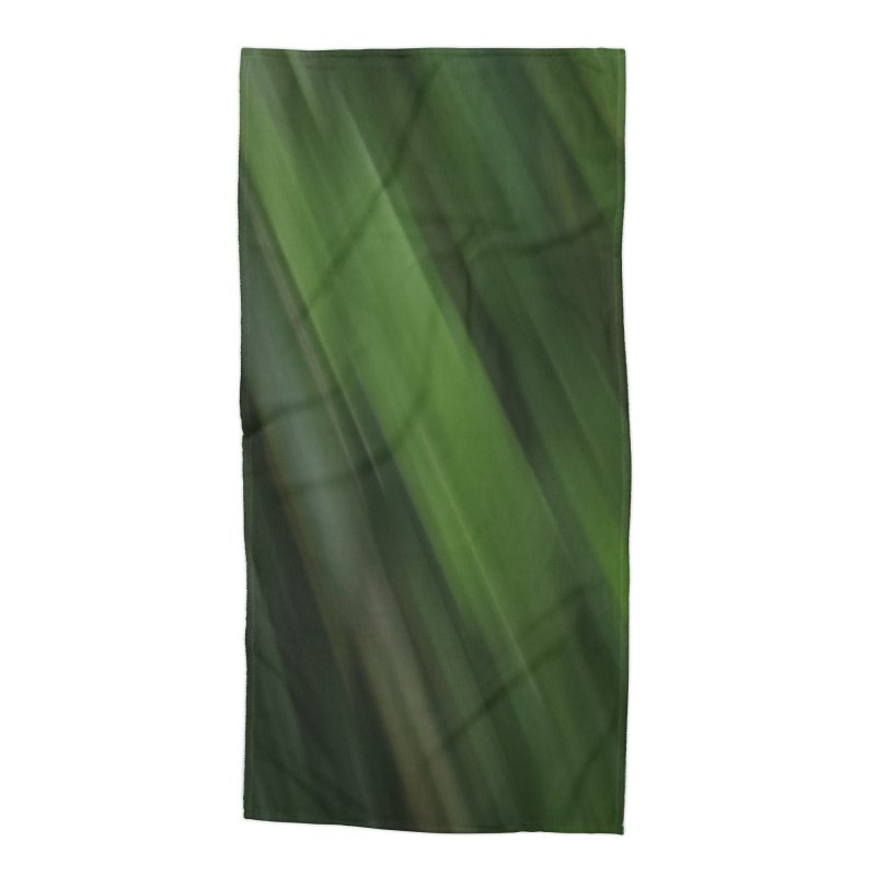 Dark Green Smudge Accessories Beach Towel by Unhuman Design