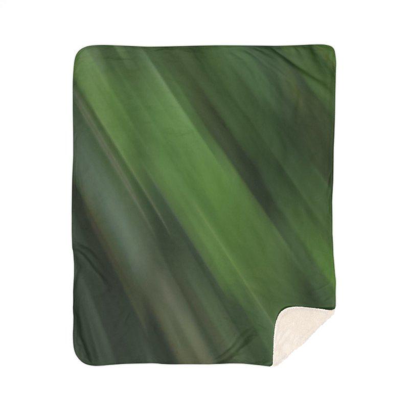 Dark Green Smudge Home Sherpa Blanket Blanket by Unhuman Design