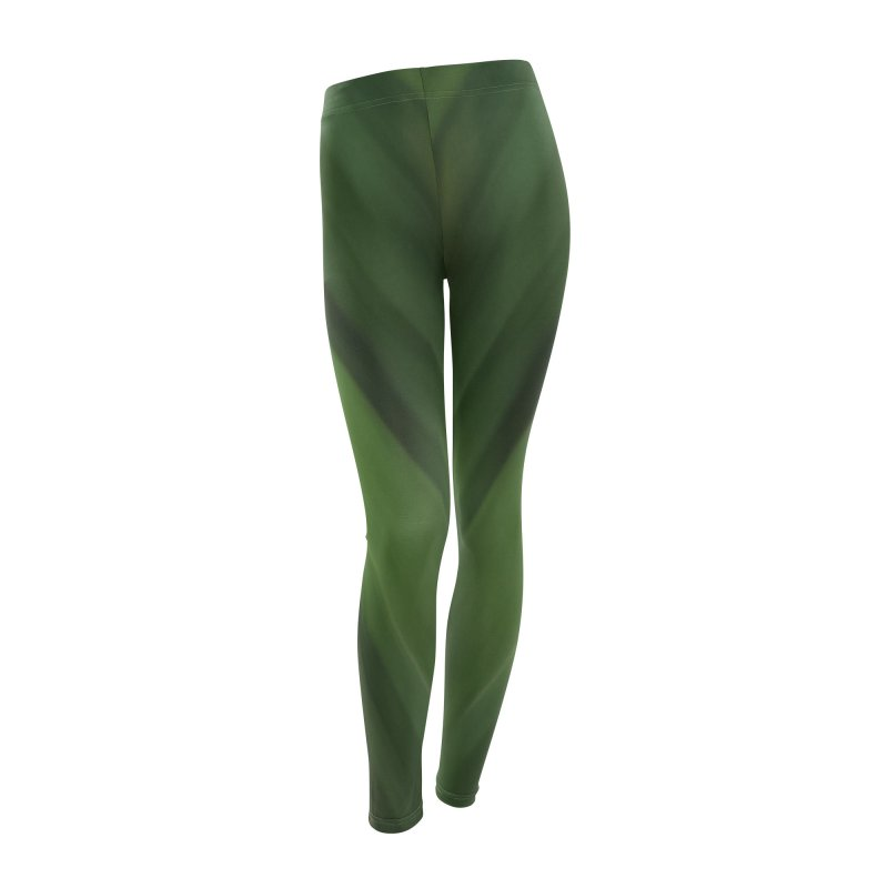 Dark Green Smudge Women's Leggings Bottoms by Unhuman Design