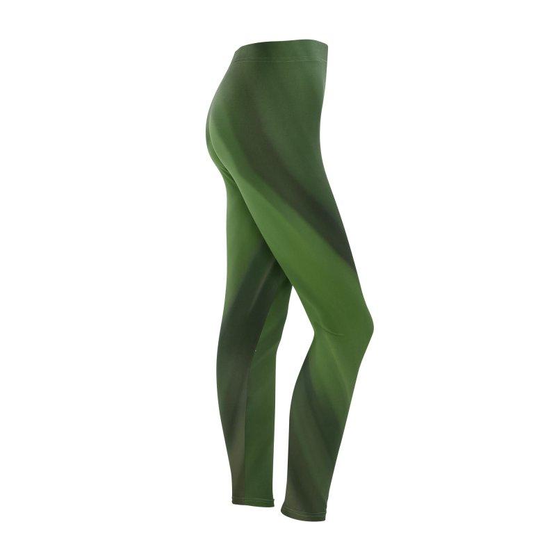 Dark Green Smudge Women's Bottoms by Unhuman Design