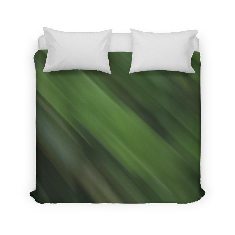 Dark Green Smudge Home Duvet by Unhuman Design