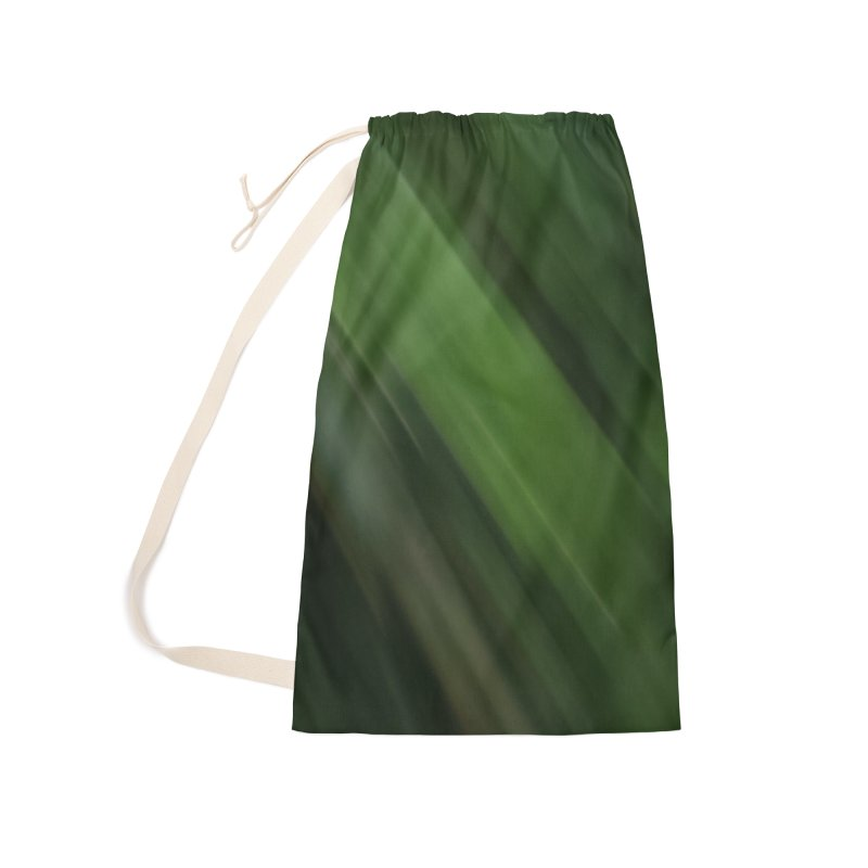 Dark Green Smudge Accessories Laundry Bag Bag by Unhuman Design