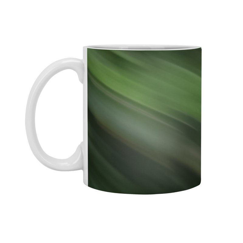 Dark Green Smudge Accessories Standard Mug by Unhuman Design
