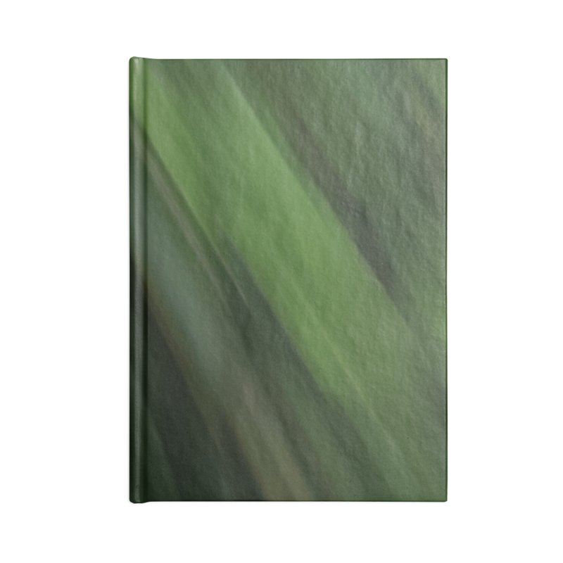 Dark Green Smudge Accessories Lined Journal Notebook by Unhuman Design