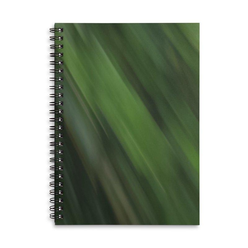 Dark Green Smudge Accessories Lined Spiral Notebook by Unhuman Design