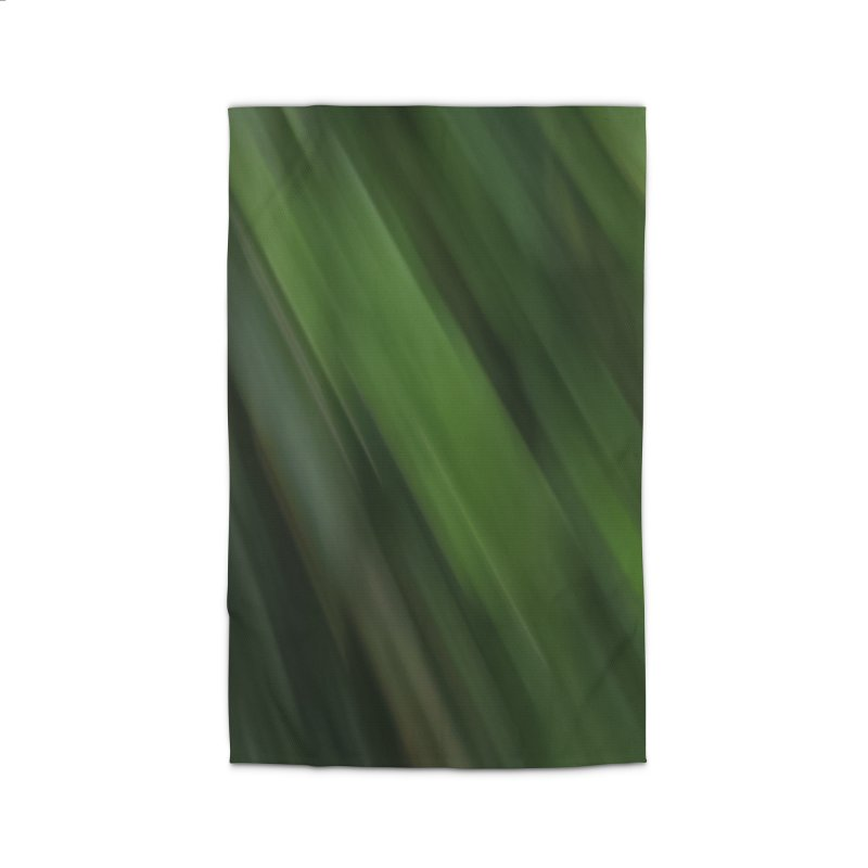 Dark Green Smudge Home Rug by Unhuman Design