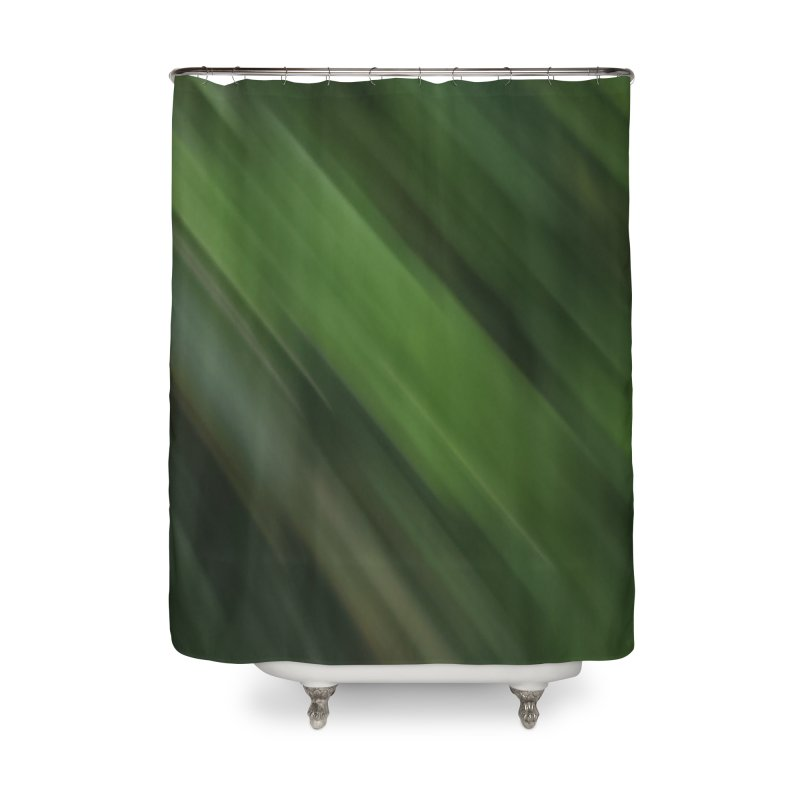 Dark Green Smudge Home Shower Curtain by Unhuman Design