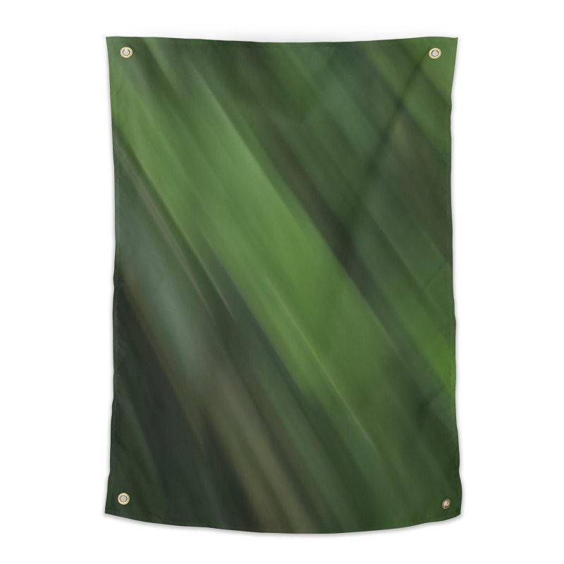 Dark Green Smudge Home Tapestry by Unhuman Design