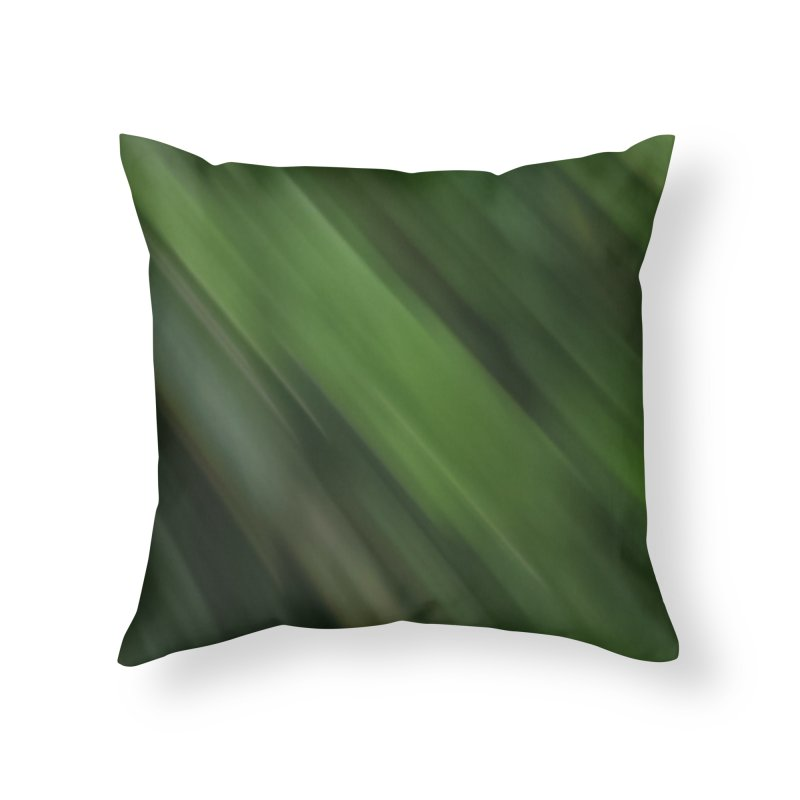 Dark Green Smudge Home Throw Pillow by Unhuman Design