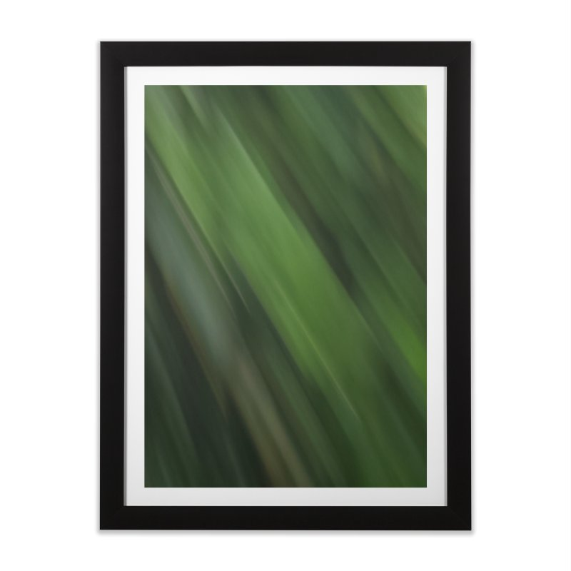 Dark Green Smudge Home Framed Fine Art Print by Unhuman Design