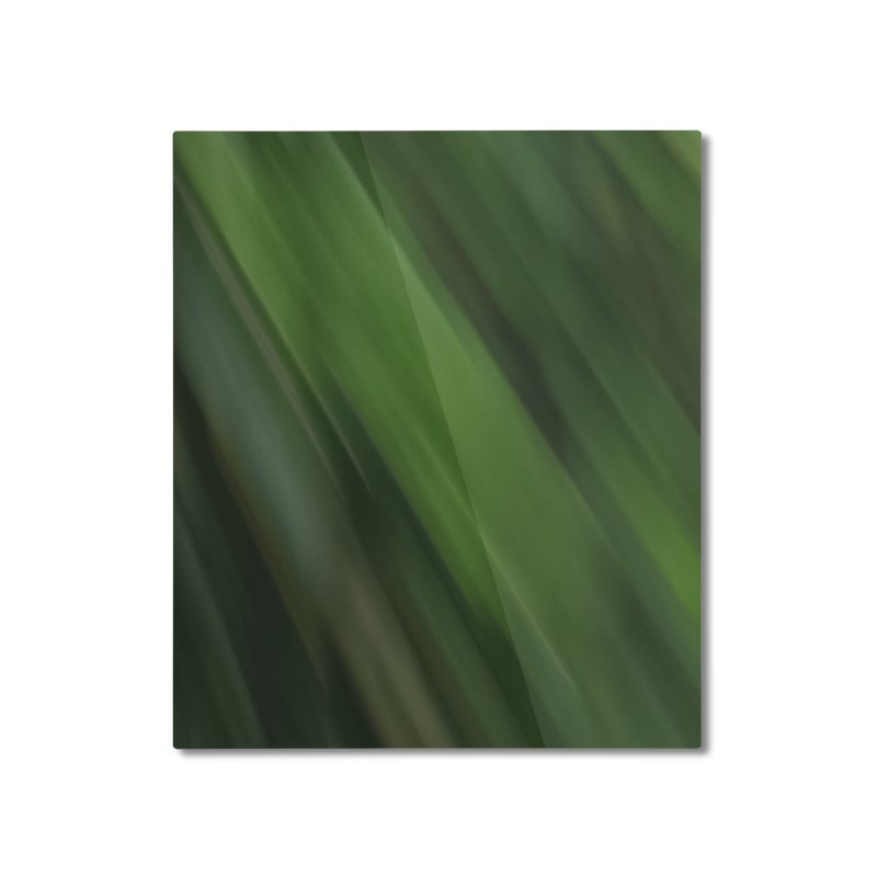 Dark Green Smudge Home Mounted Aluminum Print by Unhuman Design