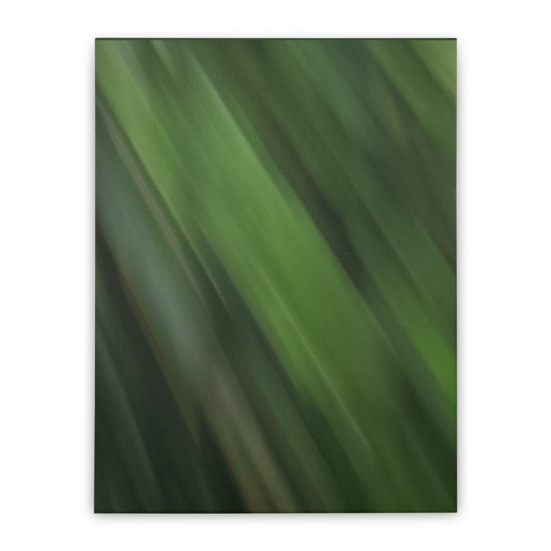 Dark Green Smudge Home Stretched Canvas by Unhuman Design